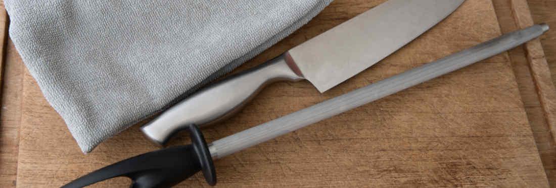 Chaira para afilar cuchillos de cocina